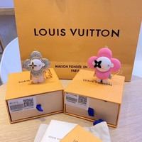 Louis Vuitton Lv M67378 Xmas Vivienne Winter Strass Bag Charm And Key Holder White Gold - Best Deal Online