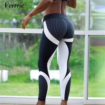 Honeycomb Yoga Pants Women Push Up Professional Running Fitness Gym Sport Leggings Tights Trousers
