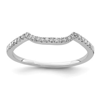 925 Sterling Silver Rhodium Plated Diamond Wrap Ring