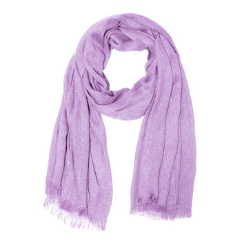 Lavender Metallic Sparkle Lighweight Evening Wrap Shawl Scarf