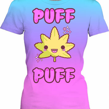 Cute Kawaii Weed Puff Puff - Female And Male T-Shirts
