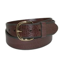 Aquarius Mens Big & Tall Oil Tanned Leather with Removable Buckle Jean Belt