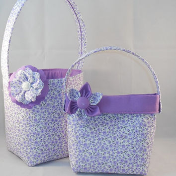 Purple Little Girls' Matching Easter Basket And Purse