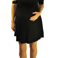 Black Maternity Dresses-Nearly Nightfall | Mommylicious Maternity