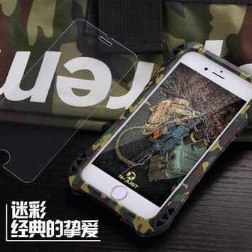 R-JUST Camo for Apple I6s 4.7inch Mobile Phone Shell for Iphone 6s 4.7inch Metal Three Sets of Waterproof Coat 6S