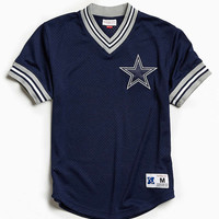 Mitchell & Ness NFL Dallas Cowboys Mesh V-Neck Top - Urban Outfitters