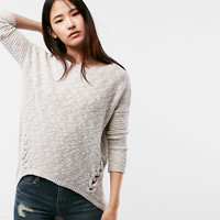 R29 Editor Pick Marled Lace-Up Side Tunic Sweater