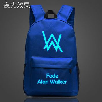 Student Backpack Children Alan Walker Faded Music School Bag noctilucous Luminous backpack student bag Notebook backpack Daily backpack Glow in the Dark AT_49_3