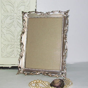 Vintage Art Deco Silver Picture Frame Vintage Photo Frame 5x7 Picture Frame