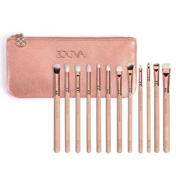 12 Pieces ZOEVA ROSE GOLDEN COMPLETE EYE SET Pink Makeup Brushes Magical Eye Beauty Cosmetic kits