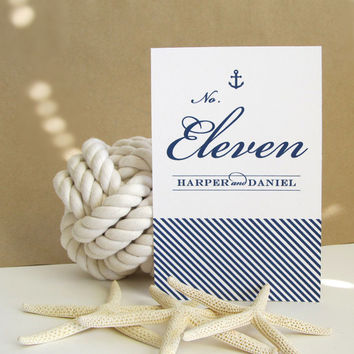 Anchor Table Numbers - Nautical Table Decor - Wedding Decor - TableNumbers - Escort Cards - Wedding - Nautical - Anchor