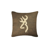 Browning Buckmark Pillow - Brown