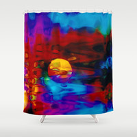 Strange Moon Shower Curtain by Stephen Linhart
