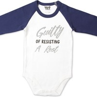 Guilty of Resisting a Rest 3/4 Sleeve Onesuit