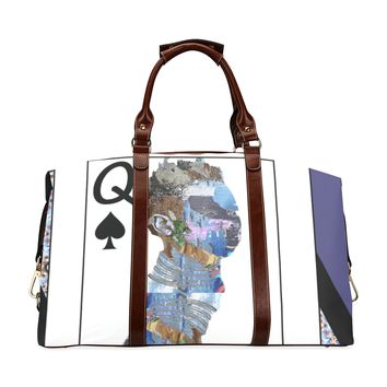 Play Your Hand...Queen Spade No. 2 Classic Travel Bag
