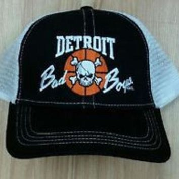 LMFON NBA Detroit Pistons Bad Boys Mesh Hat
