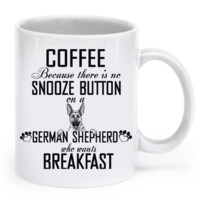 There's no snooze button on a German Shepherd who wants breakfast germanmug