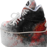 Black and Red Paint Splatter created by chobopop | Print All Over Me