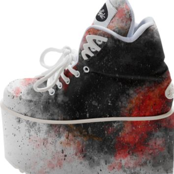 Black and Red Paint Splatter created by chobopop   Print All Over Me