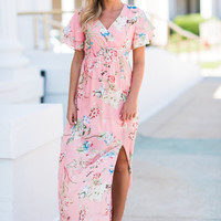 Never Give Up On Love Maxi Dress, Pink