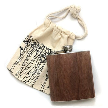 Walnut Wood Flask