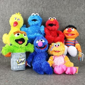 Sesame Street Elmo/BIG BIRD /COOKIE MONSTER /BERT /ERNIE/OSCAR THE GROUCH/ZOE/GROVER Stuffed Plush Toy Dolls Kids Birthday Gift