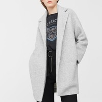 Lapels wool coat - Women | MANGO USA
