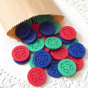 Vintage Game Pieces. Sequence. Vintage Toys. Board Games. Game Token. Card Suit. Game Chips. Scrapbook Supply. Embellishment. Mixed Media.