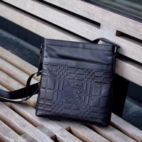 BURBERRY MEN'S NEW STYLE LEATHER CROSS BODY BAG