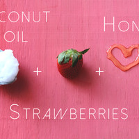 DIY Strawberry Hair Mask, Face Mask, & Detox Water