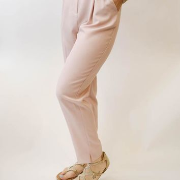 High-Waisted Trouser - Blush