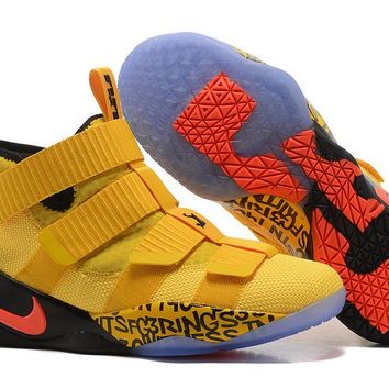 VAWA Nike Zoom Air Men's Lebron Soldier 11 Basketball Shoes Yellow