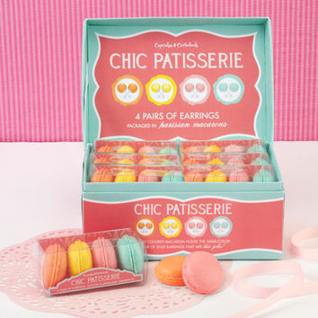 Parisian Macaron Earrings Set