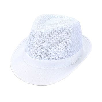 Beatnix Fashions White Lace Fedora Hat