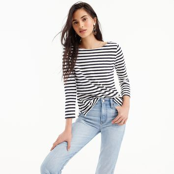 Women's Striped Boatneck T-Shirt - Women's Knits | J.Crew