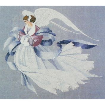 Angel of Winter - Counted Cross Stitch Leaflet - Lavender & Lace