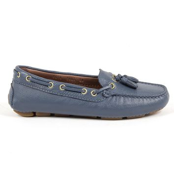 Andrew Charles Womens Loafer Blue E Giuly