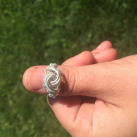 Pick Any Size ring Triple twist wrapped in sterling silver wire handmade USA