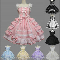 Babydoll Princess Sweet Lolita Dress Evening Party Christmas Cosplay Dresses