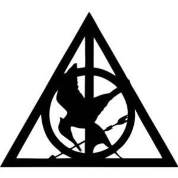 Harry Potter Deathly Hollows  Vinyl Car/Laptop/Window/Wall Decal