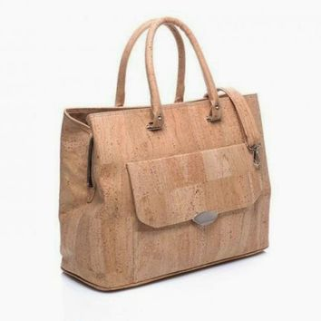 Cork Laptop Bag in Natural