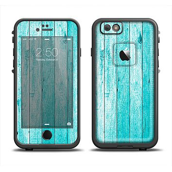 The Trendy Blue Abstract Wood Planks Apple iPhone 6 LifeProof Fre Case Skin Set