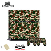 NEW Fashion Cool Supreme Bape Camo Pattern Protective Skin Decal Sticker For Sony PS4 Playstation 4 Console 2 Controller