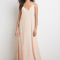 Lace-Up Back Maxi Dress