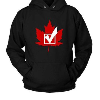 Canada Vote Hoodie Two Sided
