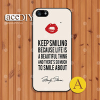 Marilyn Monroe, Phone cases, iPhone 5 case, iPhone 5s case, iPhone 4 case, iPhone 4s case, Case for iPhone, Skins, Cover Skin--A50940