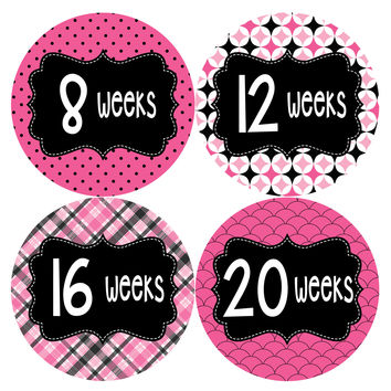 Pregnancy Baby Bump Week Stickers Style #921