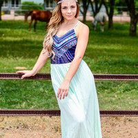 MAJESTIC MEADOW MAXI DRESS