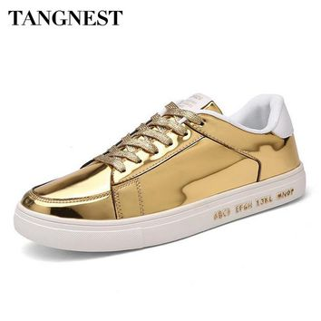 Tangnest Men's Blinging Laced  Low-Top Fashionable Tennis Shoes