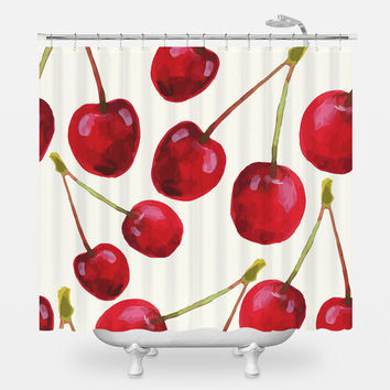 Cherry Bomb Shower Curtain